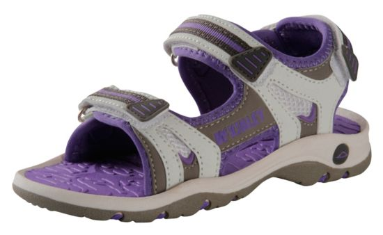 Steel Sandal Jr. WHT/GREY/PURPLE