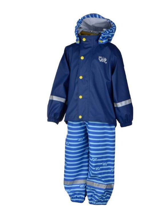Pytt 2.0 PU Regnsett Barn BLUE DEPTHS