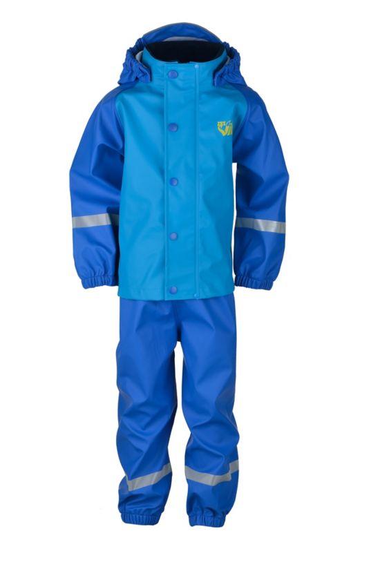 Pytt 2.0 PU Regnsett Barn STRONG BLUE