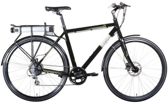 P2 Hybrid El-sykkel Herre BLACK
