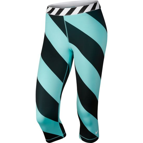 Nike Pro Printed Capri LIGHT AQUA/BLAC