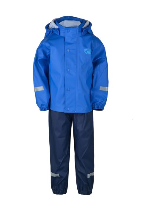 Plopp Regnsett Barn STRONG BLUE