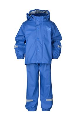 Vill Plopp regnsett barn BRIGHT COBALT 160 BRIGHT COBALT Unisex 160