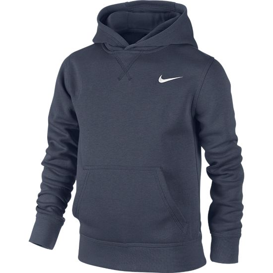 YA76 Fleece Hettegenser Junior OBSIDIAN/WHITE