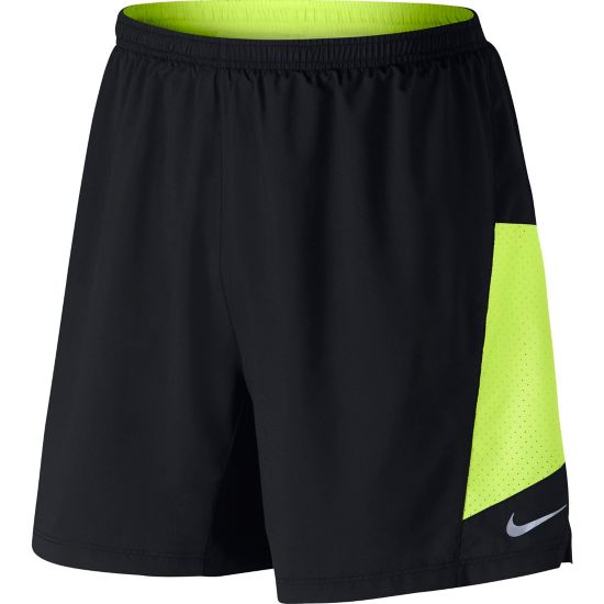 "7"" Pursuit 2-In-1 Treningsshorts Herre BLACK/VOLT/VOLT"
