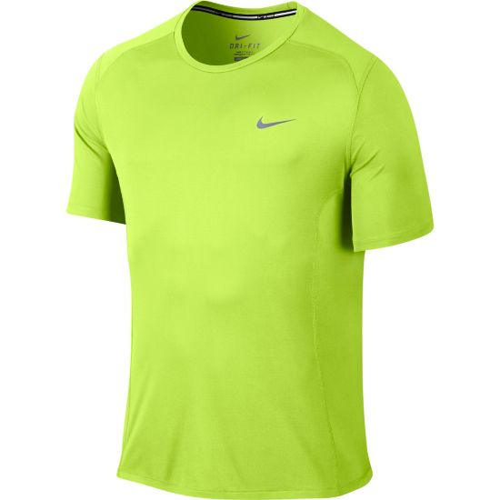 Dri-Fit Miler Short Sleeve Herre VOLT/REFLECTIVE