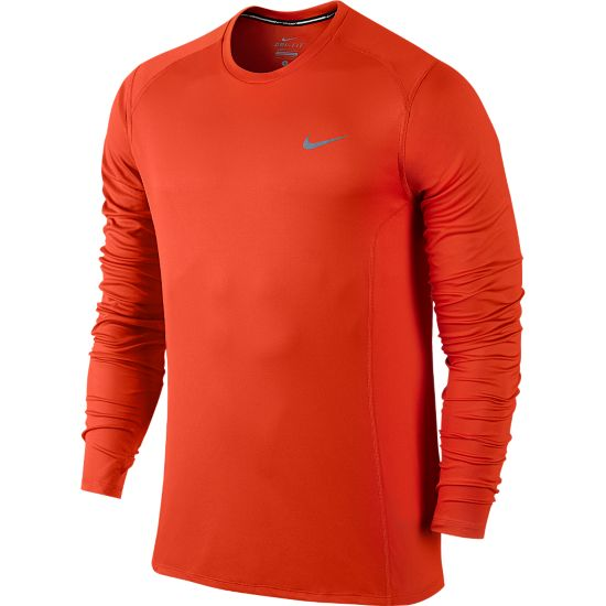 Dri-Fit Miler Long Sleeve Herre TEAM ORANGE/REF