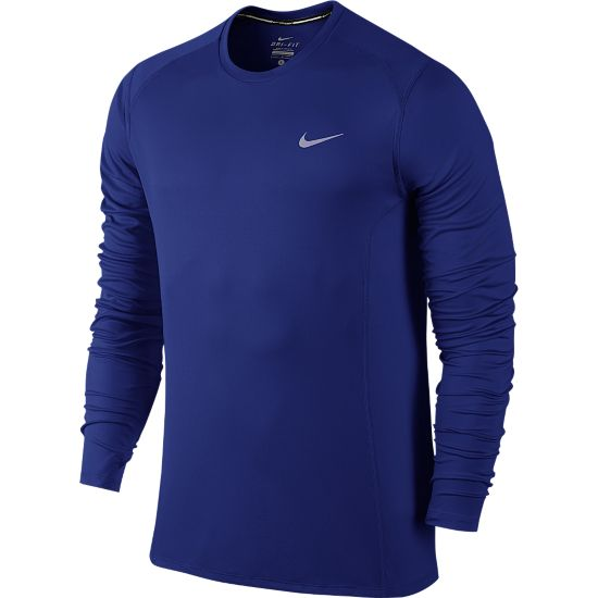 Dri-Fit Miler Long Sleeve Herre DEEP ROYAL BLUE
