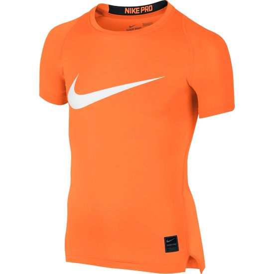 Cool Compression Top Jr. TOTAL ORANGE/BL