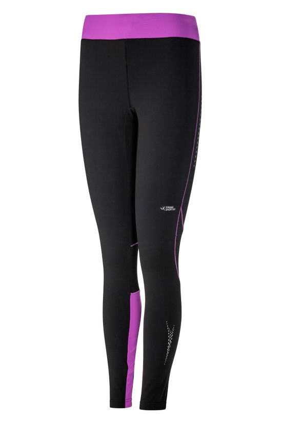 Rachel II Long Tight Thermo Brushed Dame BLACK/VIOLET