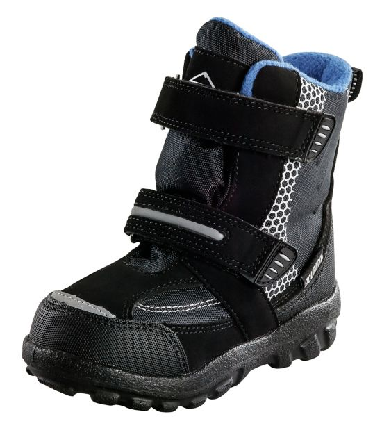 Snowtime Vintersko Barn BLACK/BLUE ROYA