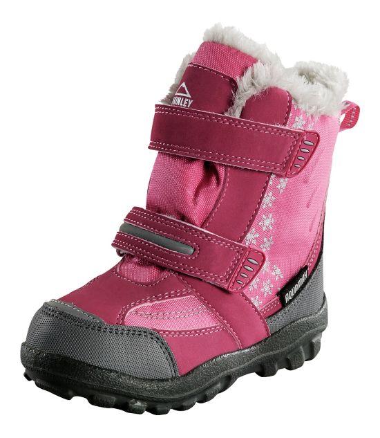 Snowtime Vintersko Barn PINK/GREY