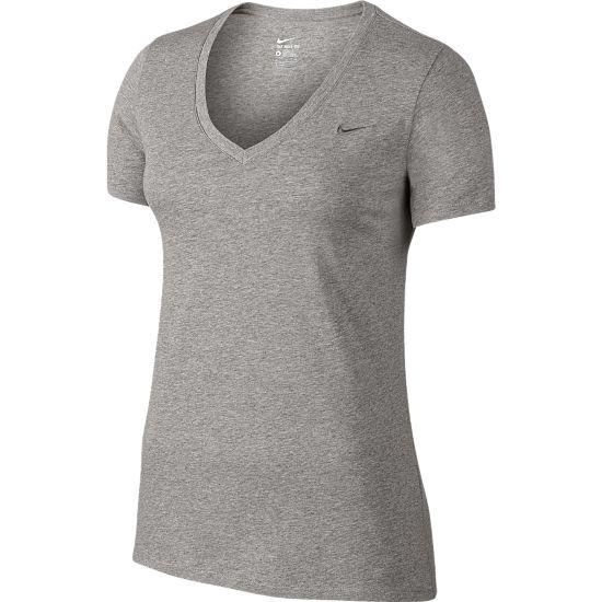 Swoosh T-skjorte Dame DK GREY HEATHER