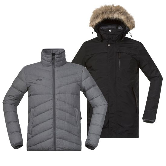 Sagene 3in1 Jakke Herre OUTER:BLACK/INN