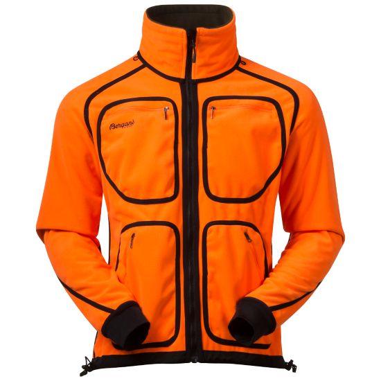 Bergans Rana Reversible Jacket, vendbar signaljakke DK OLIVE/NEONOR