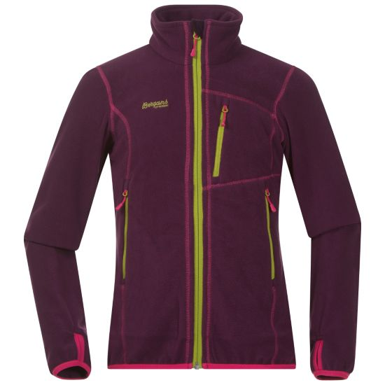 Runde Fleecejakke Junior PLUM/HOT PINK/L