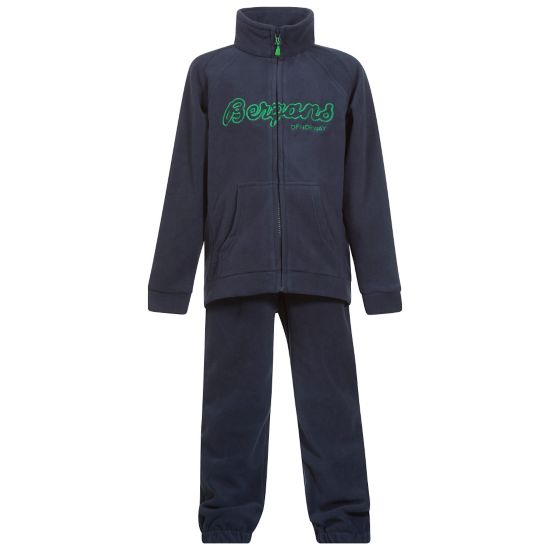 Smådøl Fleecesett Barn NAVY/FROG