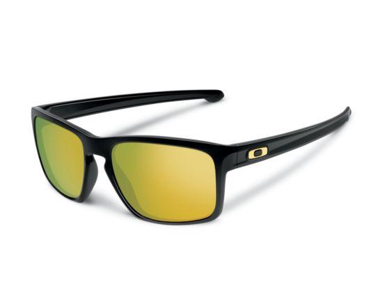 Sliver Polished Black/24K Iridium Solbrille