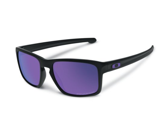 Sliver Matte Black/Violet Polarized