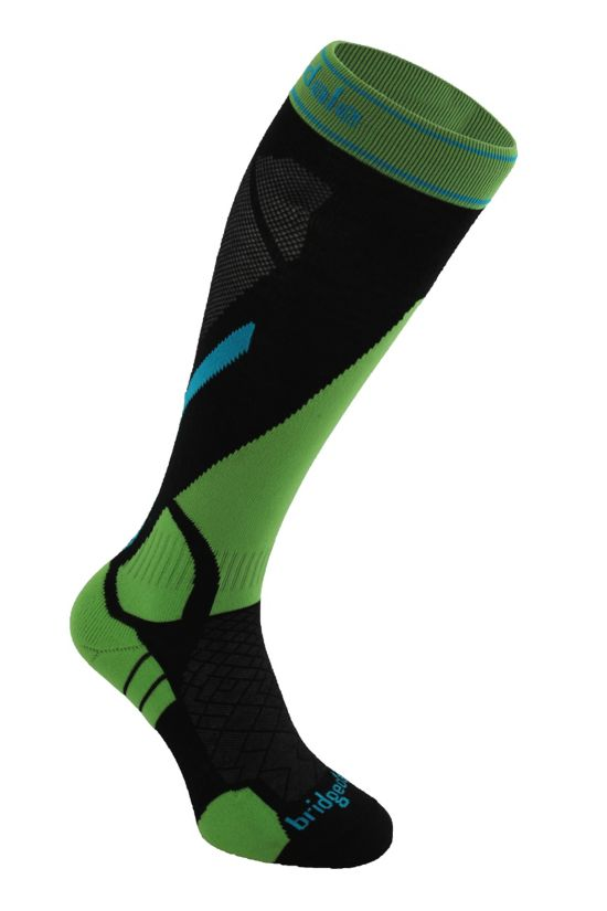 Vertige Light Alpinsokk Herre BLACK/GREEN