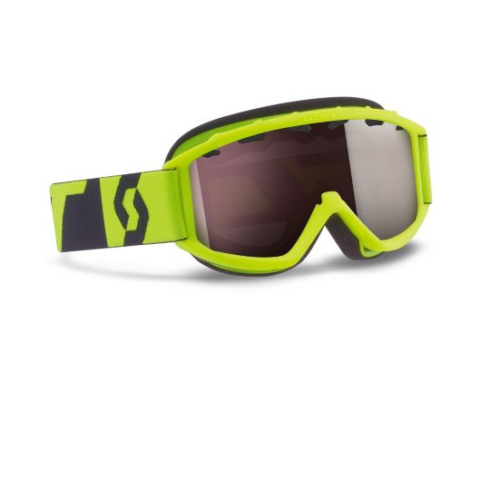 Jr Hook Up Chrome Goggle NEON YELLOW SIL