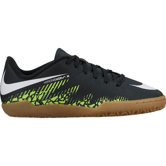 Hypervenom Phelon II IC Innendørs Fotballsko Jr. BLACK/WHITE-VOL