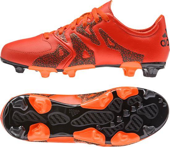 X 15.3 FG/AG Leather Fotballsko Jr. BORANG/CBLACK/S