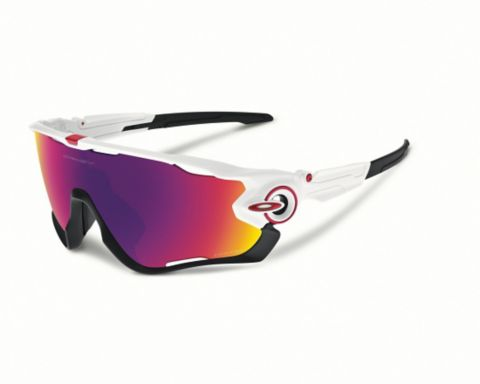 Jawbreaker Polished White/Prizm Road Sportsbrille