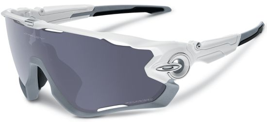 Jawbreaker Polished White/Grey Polarized