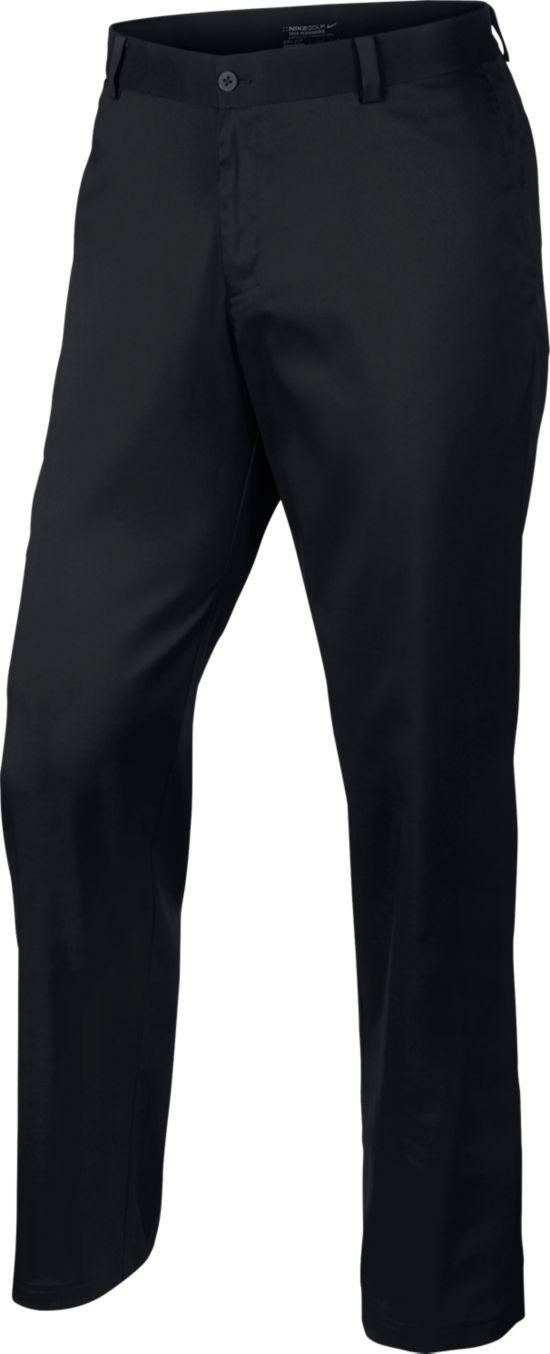 Flat Front Pant Herre BLACK/BLACK