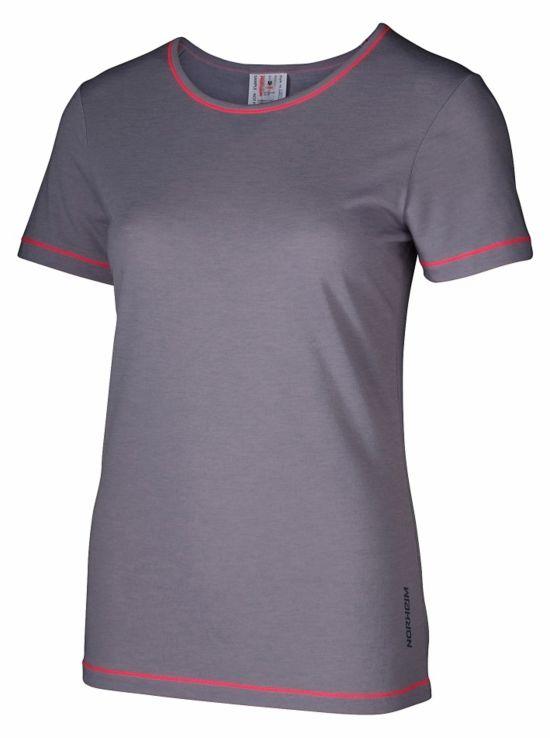 Molden Ull T-Skjorte Dame SLEET GREY