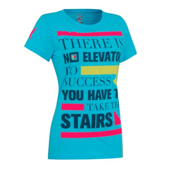 Attitude T-skjorte Dame LBLUE