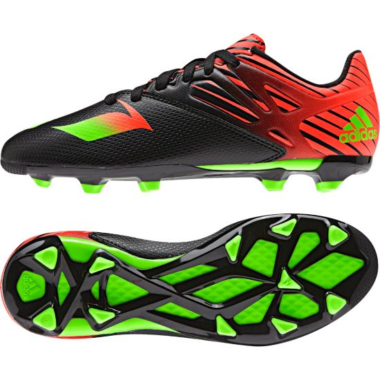 Messi 15.3 Fotballsko Jr. CBLACK/SGREEN/S
