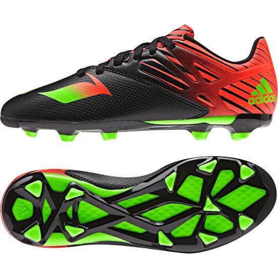 Messi 15.3 Fotballsko Jr. CBLACK/SGREEN/S