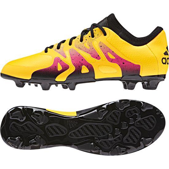 X 15.1 FG/AG Fotballsko Jr  SOGOLD/CBLACK/S