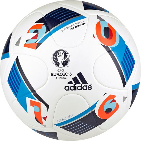 Euro16 Replica Fotball WHITE/BRBLUE/NI