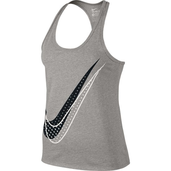 Shadow Dot Racer Singlet Dame DK GREY HEATHER