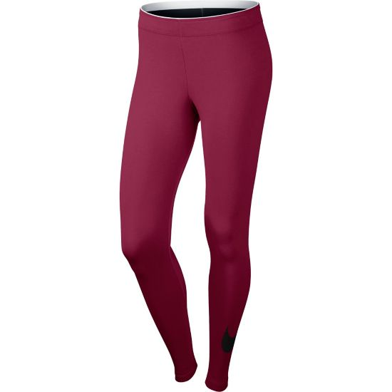 Club Logo 2 Leggings Dame NOBLE RED/BLACK