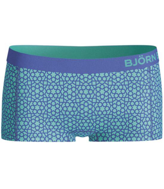 Cotton Mini Shorts Print DAZZLING BLUE