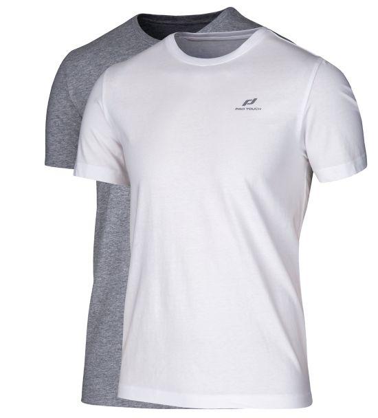 Akim T-skjorte 2pk Herre WHITE/GREY