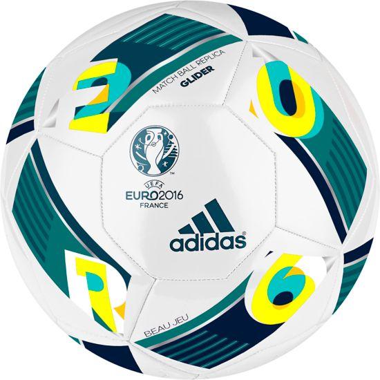 Euro16 Glider Fotball WHITE/EQTGRN/MI