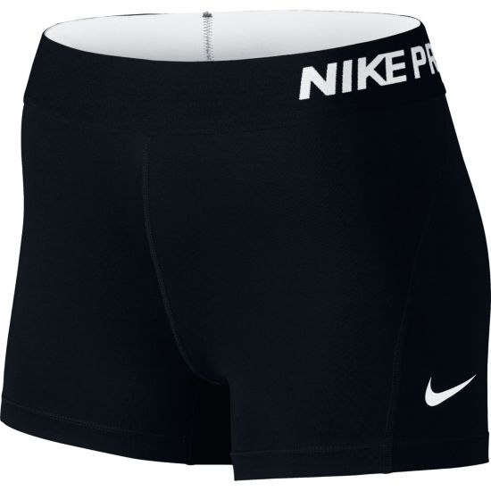 "Pro 3"" Cool Shorts Dame 010-BLACK/WHITE"