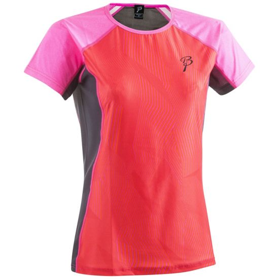 Confidence Trenings T-Skjorte Dame PINK GLO/PERISC