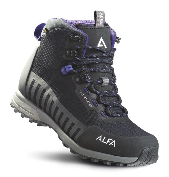 Kvist Advance GTX® W Hikingsko Dame BLACK/PURPLE