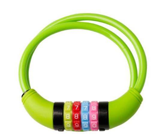 Sykkellås til barn m/kode GREEN