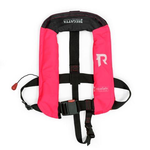 Aquasafe oppblåsbar redningsvest junior PINK