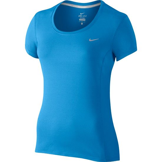 Dri-Fit Contour T-skjorte Dame LT PHOTO BLUE/R