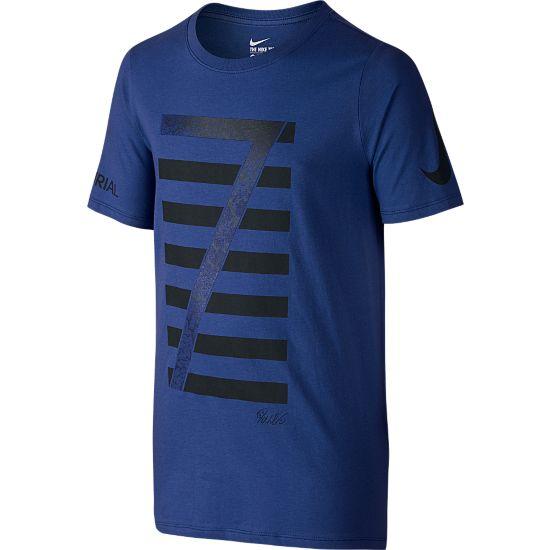 Ronaldo Logo T-skjorte Jr. DEEP ROYAL BLUE