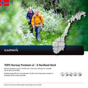 Topo Premium 8 - Nordland Nord topografisk kartpakke