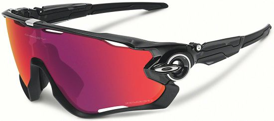 Jawbreaker Polished black/Red Iridium Polarized